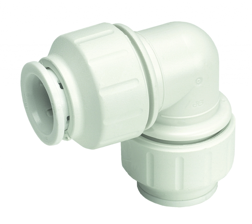 JG Speedfit Equal Elbow Connector - 22mm Pack 5 - White