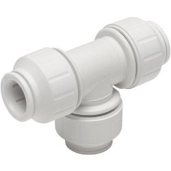 JG Speedfit Equal Tee Connector - 15mm - White Pack 5