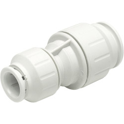 JG Speedfit Reducing Straight Coupler - White - 15mm x 10mm Pack 10