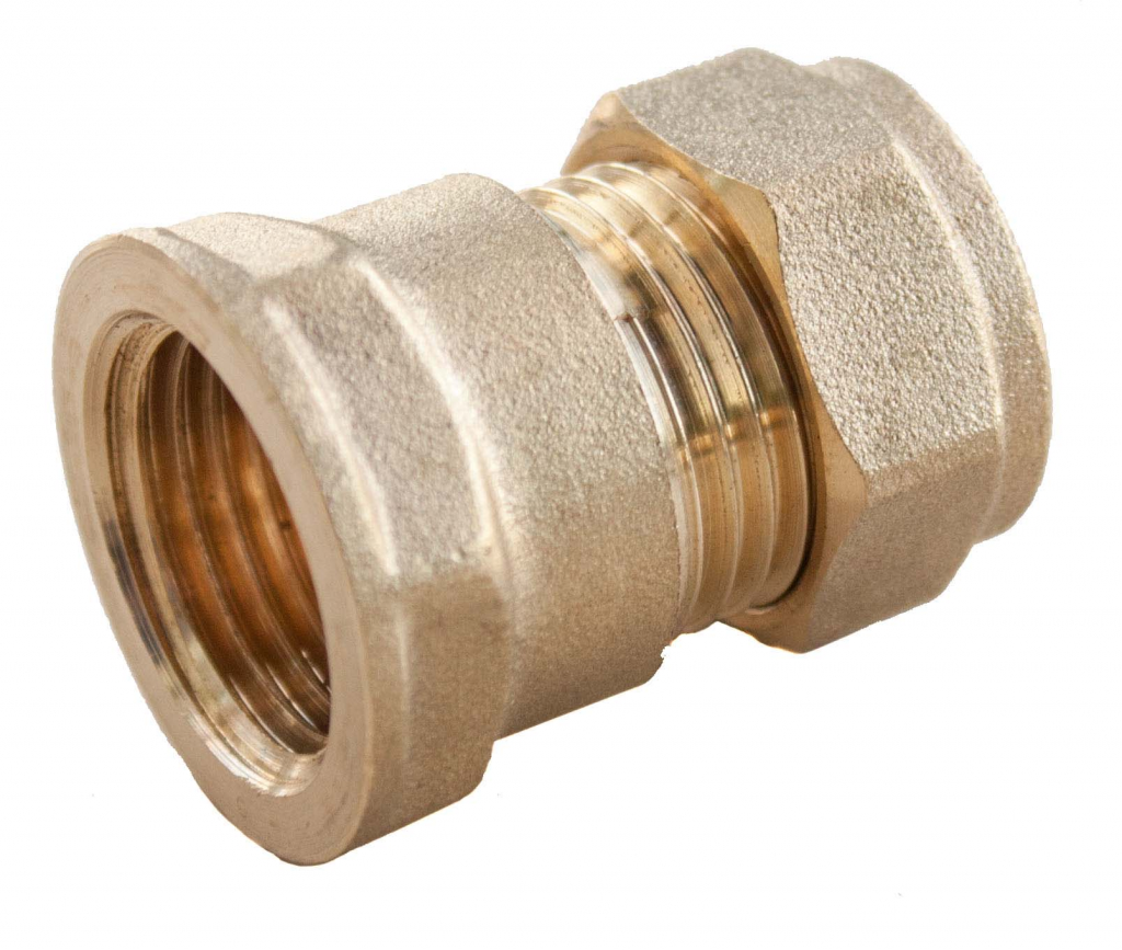 "Oracstar Compression Straight Connector - Female - 15mm x 1/2"" FI"