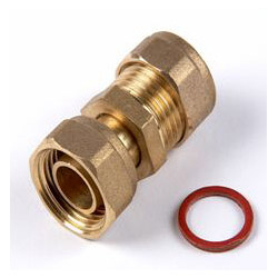 Oracstar Compression Straight Tap Connector - 15mm x 1/2""