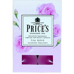 Price's Candles Scented Tealights 6 Pack - Tea Rose