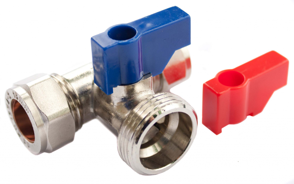 "Oracstar Tee Valve (Hot/Cold) - 15mm x 15mm x 3/4"" BSP"