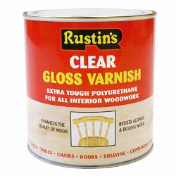 Rustins Polyurethane Gloss Varnish 1L - Clear