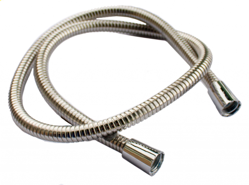 "Oracstar Shower Hose Large Bore - Stainless Steel - 1.25m x 1/2"" x 1/2"" 11mm I.D."