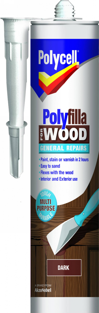 Polycell Polyfilla Wood General Repair - Dark Cartridge 480gm