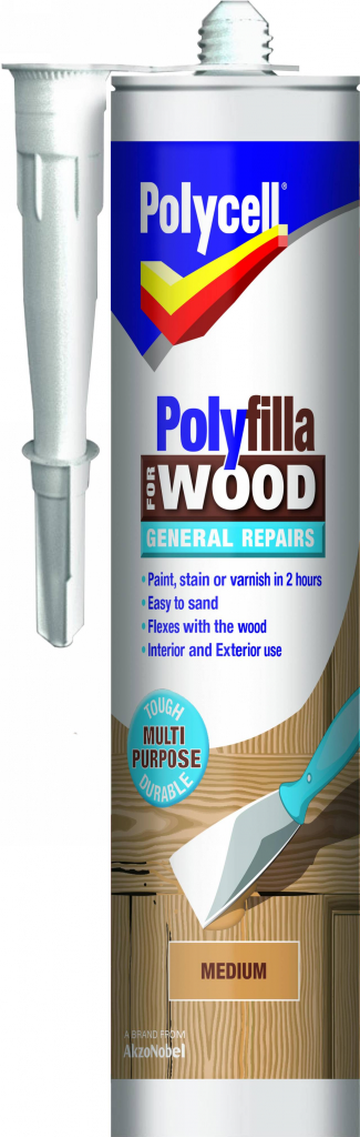 Polycell Polyfilla Wood General Repair - Medium Cartridge 480gm