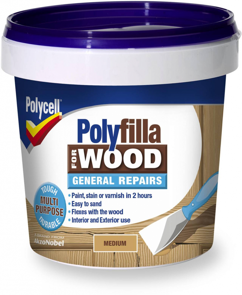 Polycell Polyfilla Wood Filler General Repairs - Medium Tub 380gm