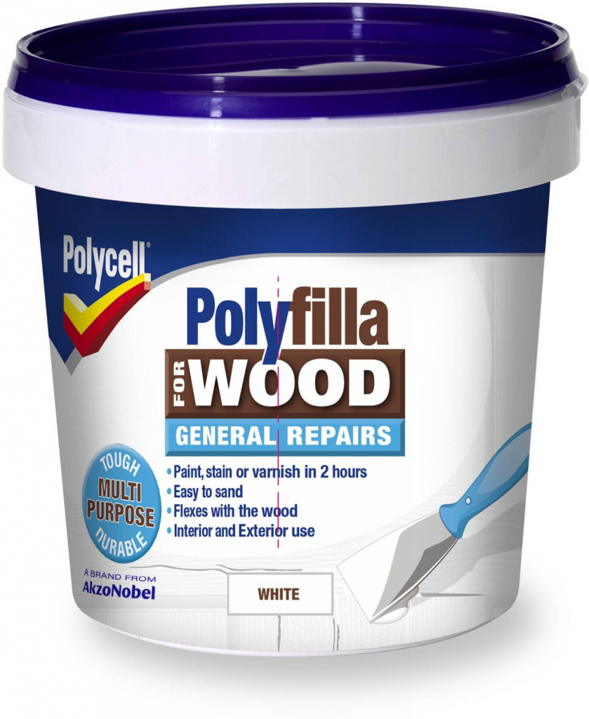Polycell Polyfilla Wood Filler General Repairs - 380g Tub