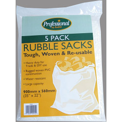 "Rodo Woven Rubble Sacks (Pack of 5) - Size 35"" x 22"""