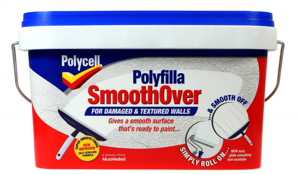 Polycell Smoothover Damaged Wall - 2.5L Textured