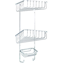 Croydex Corner Basket Three Tier 490 x 275 x 165mm