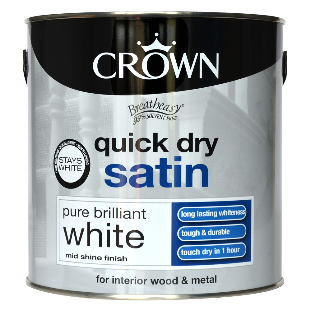Crown Quick Dry Satin 2.5L - Pure Brilliant White