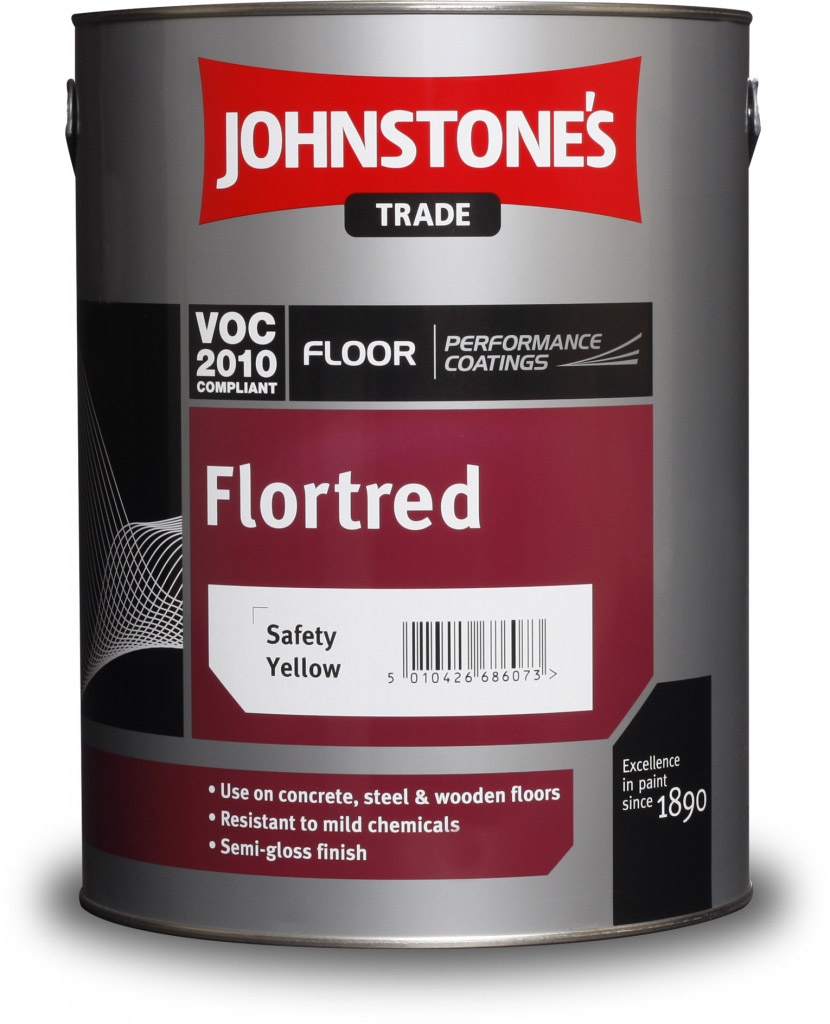 Johnstone's Trade Flortred 5L - Safety Yellow