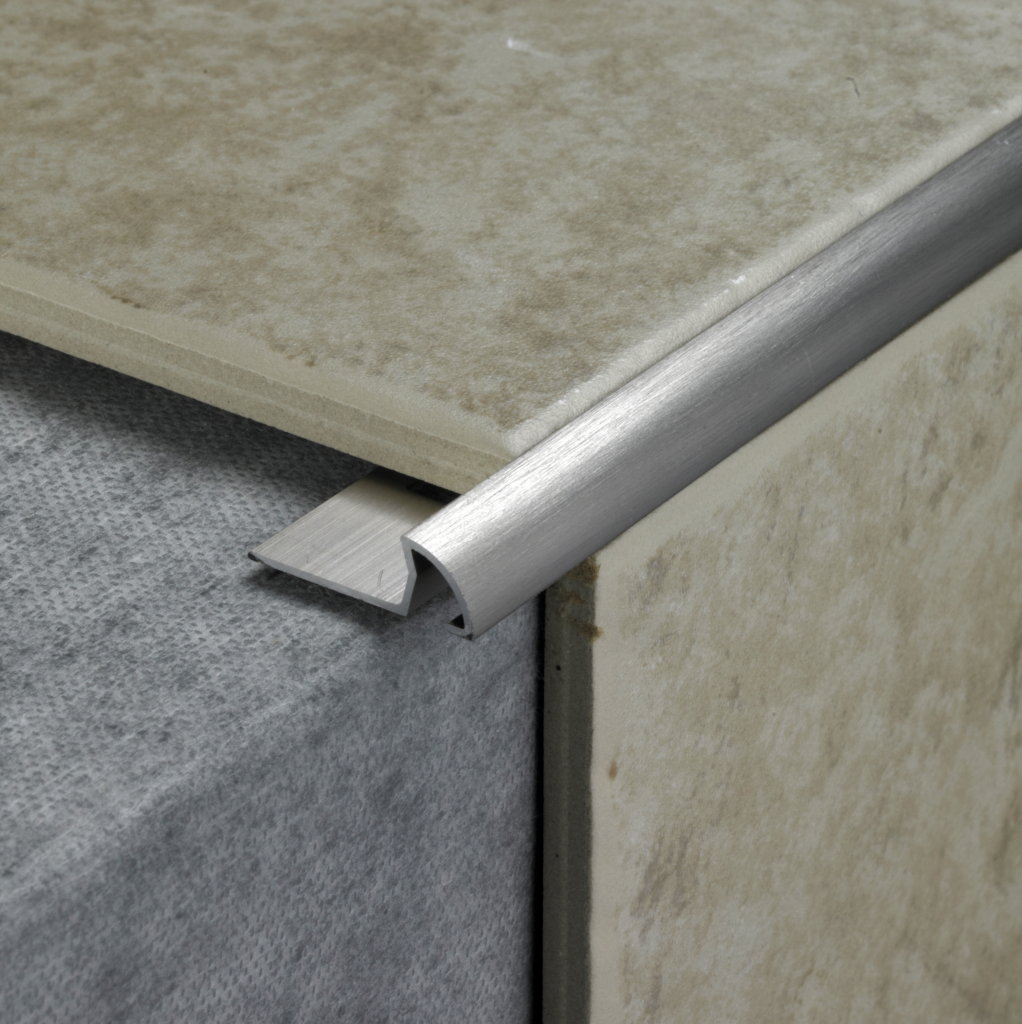 Tile Rite Tile Trim - 2.4m x 8mm Stainless Steel Effect