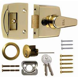 Era Replacement Front Door Lock 40mm - Finish: Brass Effect Body - Brass Cylinder