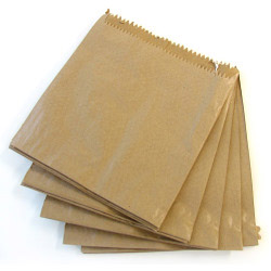 Brown Fruit Bag - Strung 7 x 7 (178 x 178mm) - Pack 1000