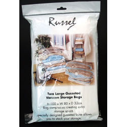 H & L Russel Gusseted Vacuum Bags - Set of 2 - 100 x 80 x 32cm