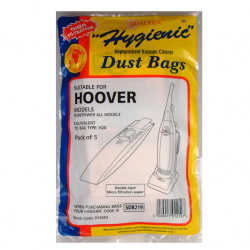 Dencon Hoover Upright Turbo Power Repacement Bags Pack 5