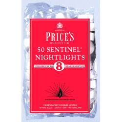 Price's Candles Sentinel Nightlights - Pack 50