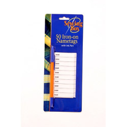 Sewing Box Iron On Name Tags - 50 Pack