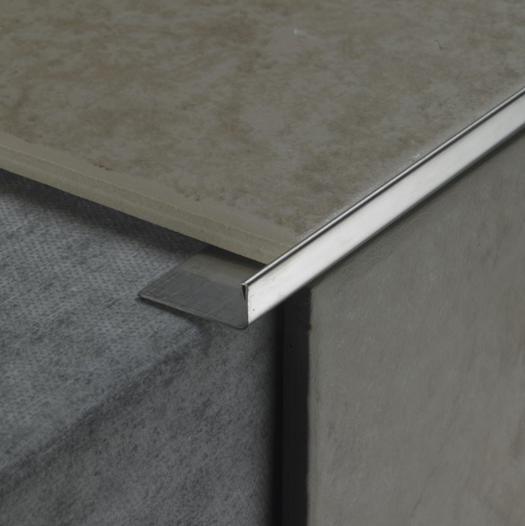 Tile Rite Square Listello - 10mm Stainless Steel Effect