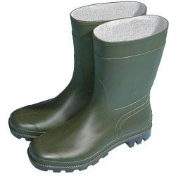 Town & Country Essentials Half Length Wellington Boots - Green - UK Size 10 - Euro Size 44