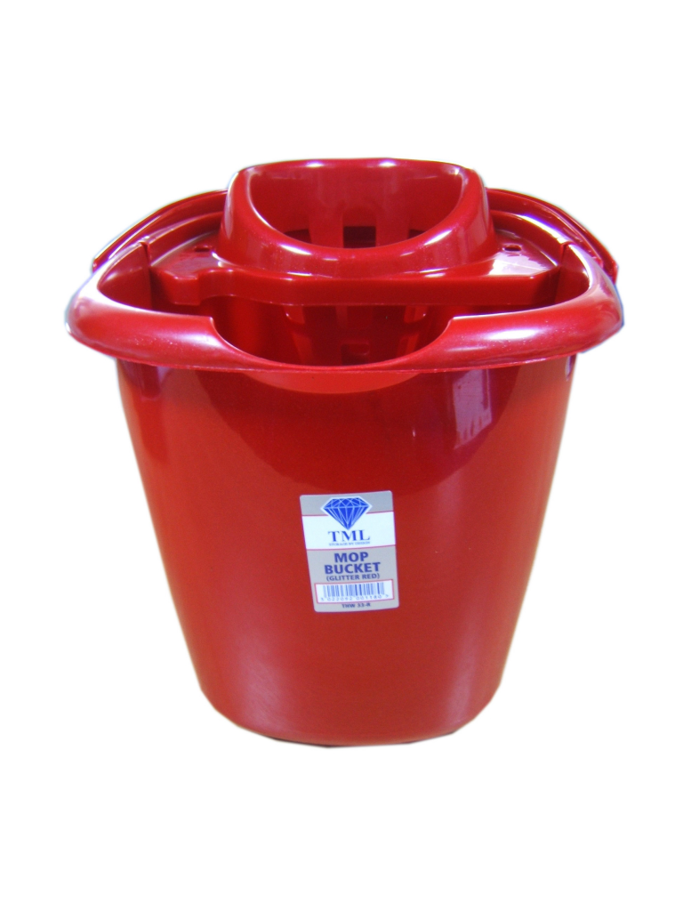 TML Mop Bucket - 15L Glitter Red