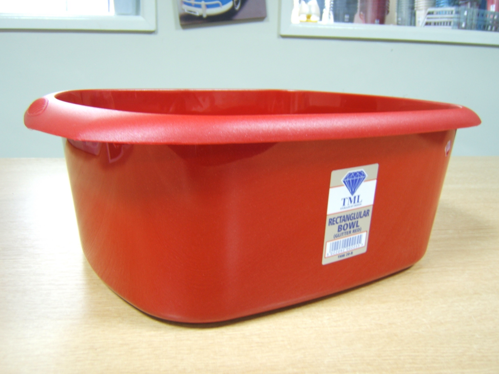 TML Rectangular Bowl - 11L Glitter Red