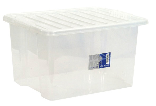 TML Storage Box & Lid - 30L Clear