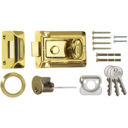 Era Traditional Door Lock 60mm - Finish: Brass Body - Brass Cylinder