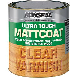 Ronseal Ultra Tough Varnish Matt Coat - 2.5L