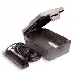 Masterplug 4 Gang 8m Extension Lead with Weatherproof Box