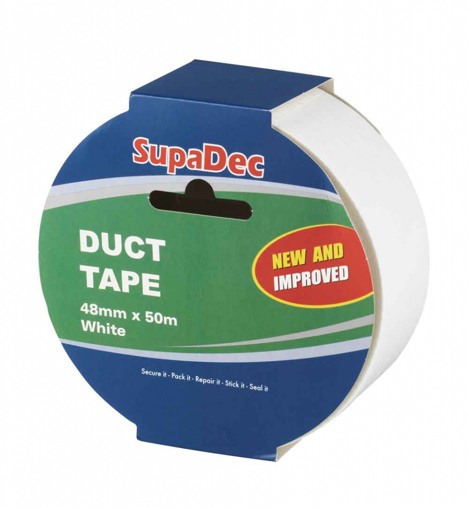 SupaDec 50m Duct Tape - White
