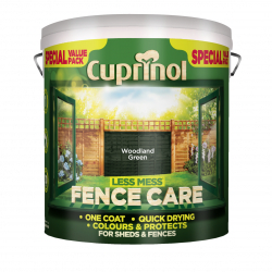 Cuprinol Less Mess Fence Care 6L Woodland Green