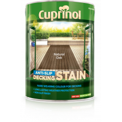 Cuprinol Anti Slip Decking Stain 5L Natural Oak