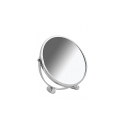 Blue Canyon Chrome Bullet Stand Desk Mirror - Diameter 17cm