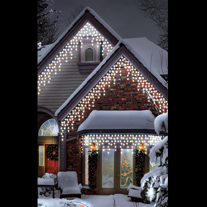 christmas led warm ice white multi function outdoor icicle lights 300 lights ebay. Black Bedroom Furniture Sets. Home Design Ideas