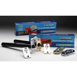 Gibcloser Concealed Chain Door Closer - 18 x 5 x 2.5cm - Brass