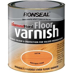 Ronseal Diamond Hard Coloured Floor Varnish - Walnut -  2.5L
