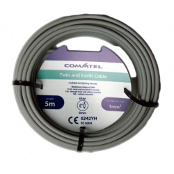 Commtel Twin and Earth Cable 1MM 5M
