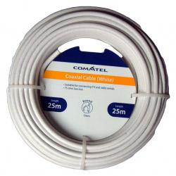 Commtel White Coax Cable 25m
