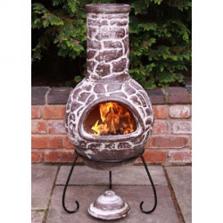 Gardeco Mexican Cantera Chimenea and Stand