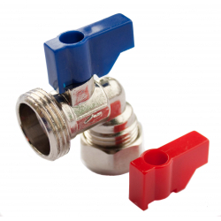 "Oracstar Angled Valve (Hot/Cold) 15mm x 3/4"" BSP"