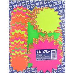 Hi-Glo Assorted Stars - Pack of 100