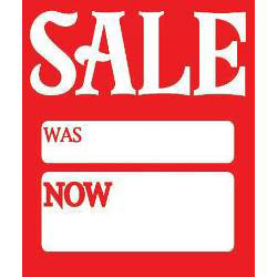 "Hi-Glo Sale Cards (Pack of 40) - 3"" x 2.5"""