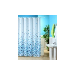 Blue Canyon Mosaic Shower Curtain - White