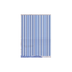 Blue Canyon Peva Shower Curtain 180 x 180cm - Black Stripe