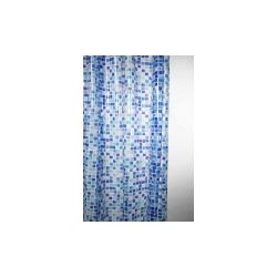 Blue Canyon Peva Shower Curtain 180 x 180cm - Mosaic Blue