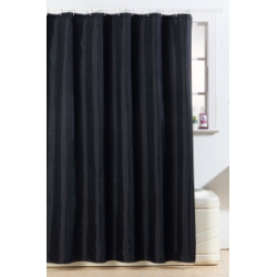 Blue Canyon Polyester Glitter Bling Design Shower Curtain - Black